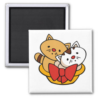 Kittens in Basket Tshirts and Gifts Fridge Magnets