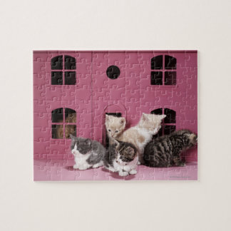 Kittens in doll's house jigsaw puzzle