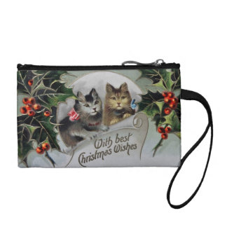 Kittens in Holly Christmas Coin Purse