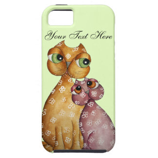 Kittens in Love Green iPhone 5 Case
