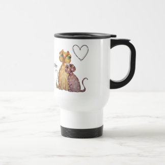Kittens in Love Travel Mug