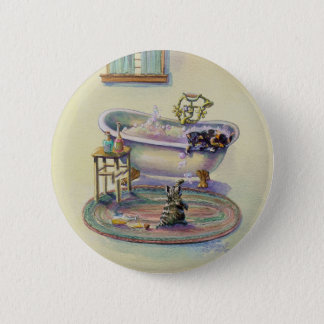 KITTENS in the BATHTUB by SHARON SHARPE 6 Cm Round Badge