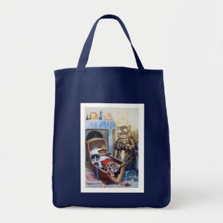 Kittens in the Cradle Grocery Tote Bag