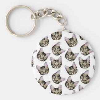 kittens basic round button key ring