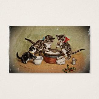 Kittens Making Pudding