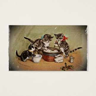 Kittens Making Pudding Business Card