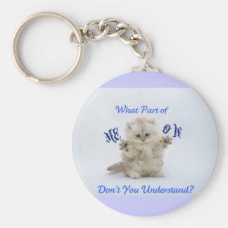 Kittens Meow Attitude Basic Round Button Key Ring