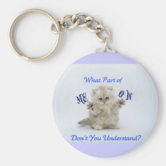 Kittens Meow Attitude Key Ring