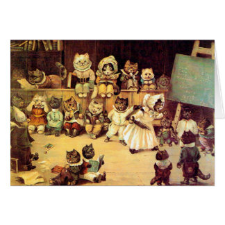 Kittens of a Cat's School, Louis Wain Card