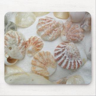 Kitten's Paw Seashells Mouse Mat