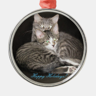 Kittens Photo Christmas Ornament