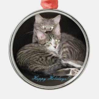 Kittens Photo Christmas Ornament