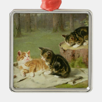 Kittens Playing Christmas Ornament