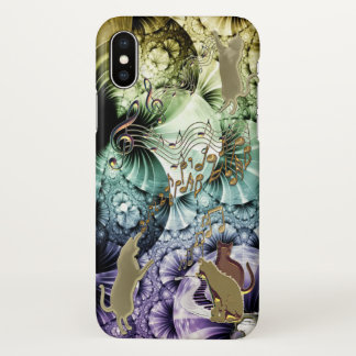 Kittens Playing Music Whimsical iPhone X Case