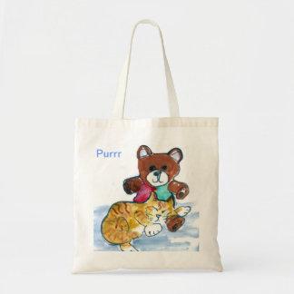 Kitten's Teddy Bear Nap Tote Bag