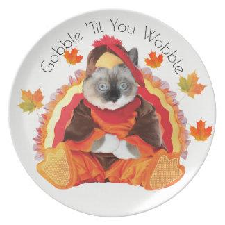 Kittens Thanksgiving Plate