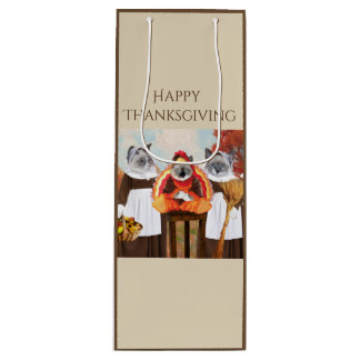 Kittens Thanksgiving Wine Bag