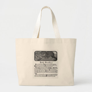 Kittens with Beetles Story Illustration Canvas Bags