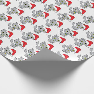 Kittens with Santa Hats Wrapping Paper
