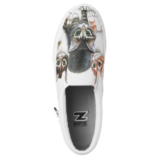 kittens Zipz canvas slip on shoes Printed Shoes