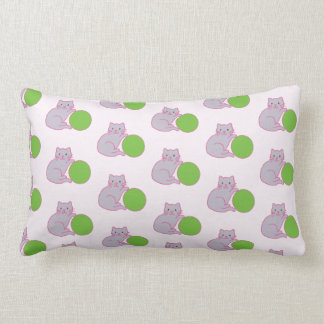 Kittie with Green Ball Pillow