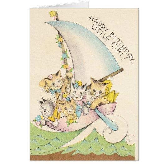 Kitties in a Boat Card