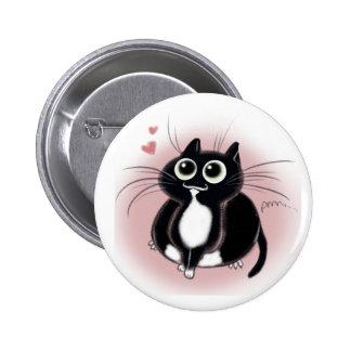 Kitties love you! 6 cm round badge