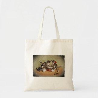 Kitties Making Christmas Pudding Bags