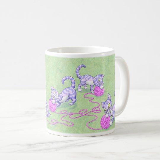 Kittipurra Purple Pink Coffee Mug