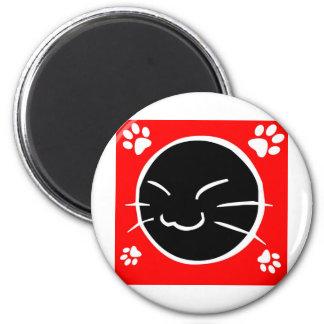 Kitty 6 Cm Round Magnet