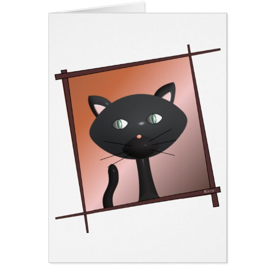 Kitty and chopsticks note card