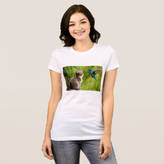 Kitty and Hummingbird T-Shirt