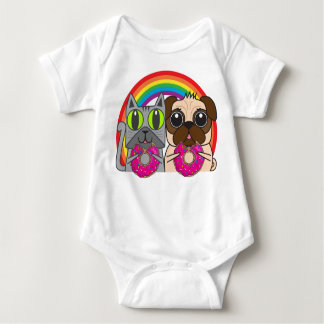 Kitty and Puggy Baby Bodysuit