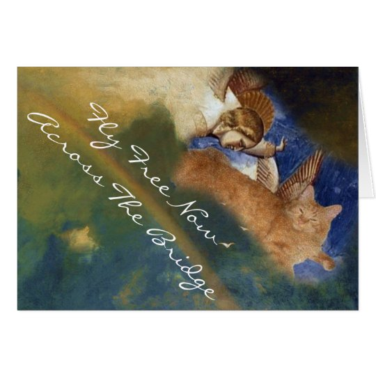 Kitty Angel Sympathy Card
