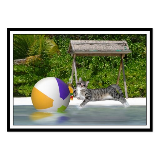 Kitty at the Lake Side Business Card