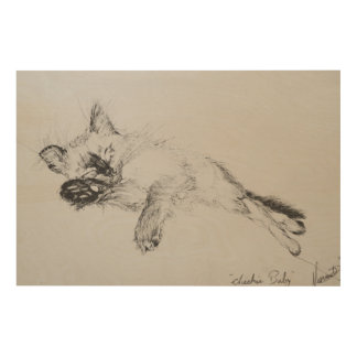 Kitty 'Baby' Wood Canvas
