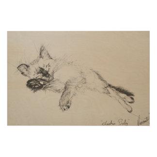 Kitty 'Baby' Wood Print