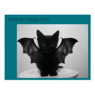 kitty bat postcard