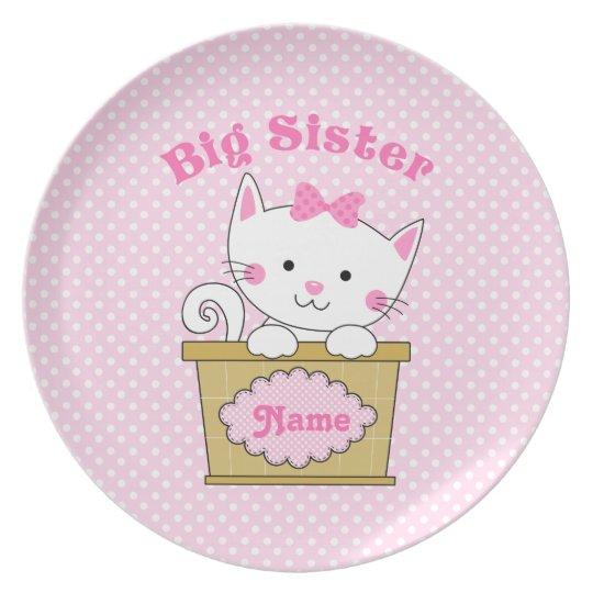 Kitty Big Sister Plate