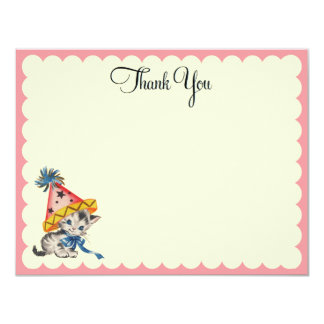 Kitty Birthday  |   Flat Thank You Notes 11 Cm X 14 Cm Invitation Card