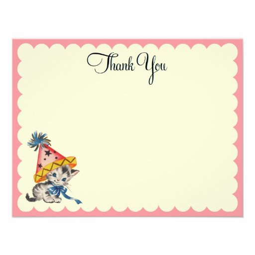 Kitty Birthday  |   Flat Thank You Notes Personalized Announcements