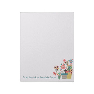 Kitty Blossoms Notepad