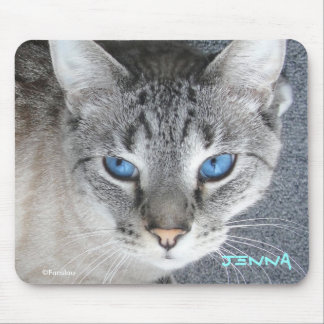 Kitty Blue Eyes - Name Personalized Mouse Pad