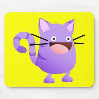 Kitty Bounce Purple T-Shirt Mouse Pad