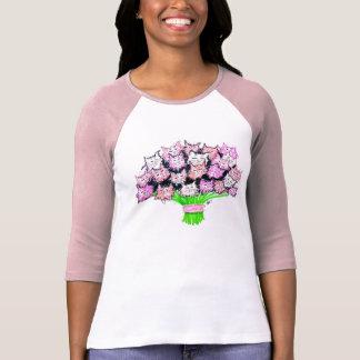 Kitty Bouquet 3/4 sleeve tshirt