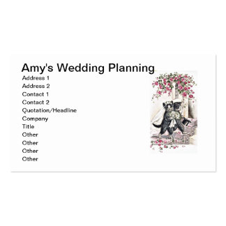 Kitty Bride and Groom Pack Of Standard Business Cards