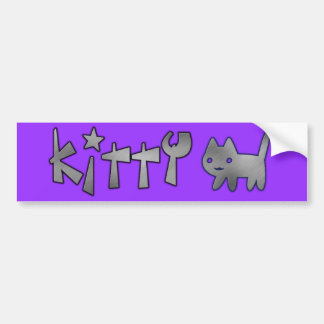 Kitty Car Bumper Sticker