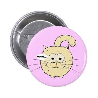 Kitty-cat 6 Cm Round Badge