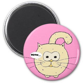 Kitty-cat 6 Cm Round Magnet