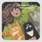 Kitty Cat Angel Sticker